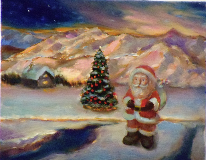Original Oil Painting of Santa Claus